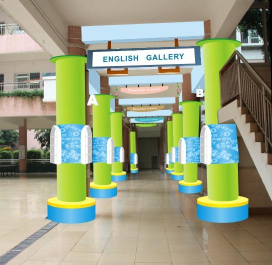 鸿博广告为了在校园文化建设的领域,能卓而不群,特意安排了设计师去学习与考察,并加以实践,经多年锤练已然成为校园文化建设长期顾问的角色。   国学区设计方案  国学区完工实景拍摄  英语角设计方案  英语长廊设计方案  书吧一角  朝天小学近日与我司合作,将校园的门面、国学区及英语吧交给我们去设计与执行,详细的沟通并了解了校方的需求,我们的设计一遍而过,到现在国学区已经完工,校长非常满意,现在英语吧正在顺畅的施工中!尽情期待! 标签: